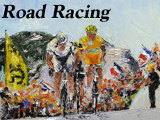 Road Racing  Art by Jeff Desautels
