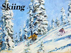 Skiing Art by Jeff Desautels